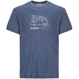 super.natural Graphic Tee 140 - T-shirt manches courtes Homme - bleu